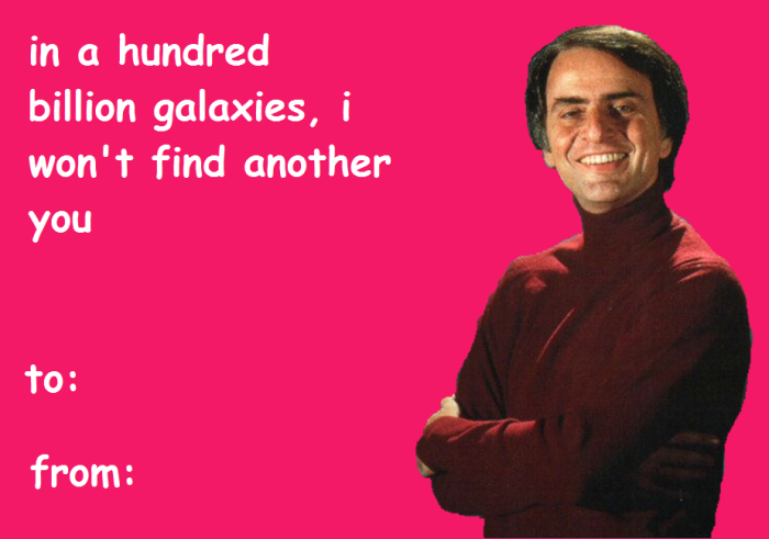 Carl Sagan Valentines // via We Are Star Stuff