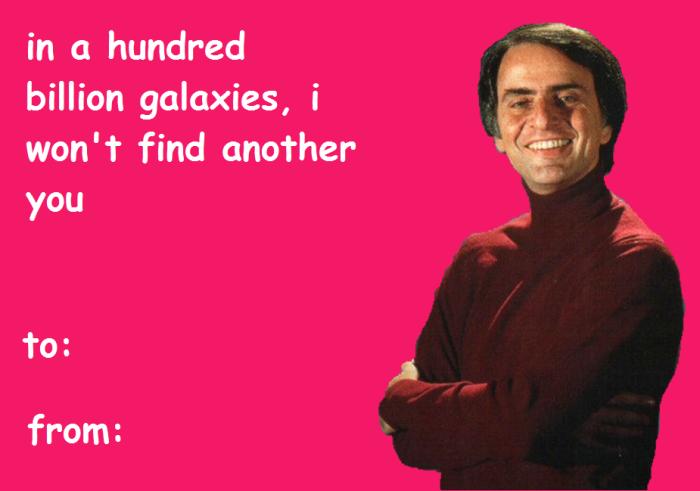 Carl Sagan Valentines // via We Are Star Stuff